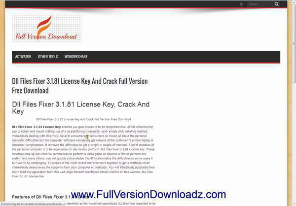 licence key for dll files fixer 3.1.81
