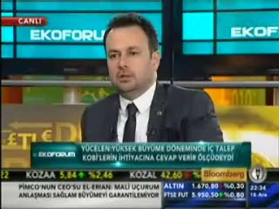 Tügiad Başkanı Ali Yücelen Bloomberg Ht Kanalında Canlı Yayın Konuğ