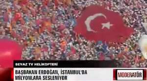 Helikopter kamerasından Ankara'daki AK Parti mitingi