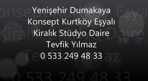 Yenişehir Dumakaya Konsept Kurtköy Eşyalı Kiralık Stüdyo Daire