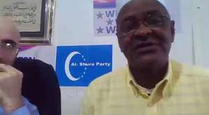 MR MOEGSIEN HARRIS WARD 58 CANDIDATE TALKING WITH PARTY LEADER MEHMET VEFA DAG ABOUT HIS POLITICAL VIEW