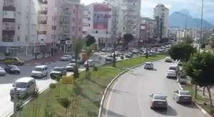 Antalya Demre-Finike Yolunda Dev Dalgalar