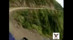 Graphic content Truck falls off cliff due to land slide