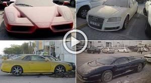 Garajlarda unutulan milyon dolarlık lüks otomobiller