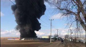 Doğalgaz patlaması güvenlik kamerasında