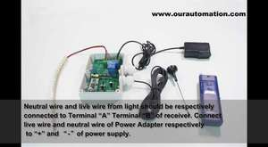 RF Motor Control with Time Delay Funtion and Positive or Reversal Direction