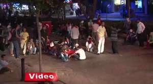 Adana'daki olaylarda patlama anı güvenlik kameralarına yansıdı