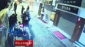 İstanbul`da öldüresiye dayak kamerada