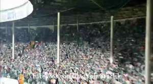 İnegölspor maçındaki tribün şovun bir kısmı