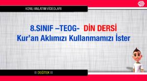 TEOG-Din Dersi- 8.Sınıf 3.Ünite: Hz. Muhammed Merhametli, Hoşgörülü ve Affediciydi