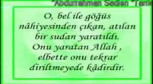 Abdurrahman Sadien Tarık Suresi Video izle