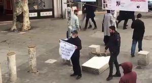 Dev-Gençliler Mustafa Koçak'ın Direnişine Destek Oluyorlar