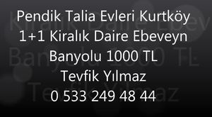 Kurtköy Emlakçısından Kurtköy Emlakçısından Pendik Yenişehir Konsept İstanbul Kurtköy Kiralık Daire 1+1