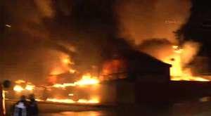 İplik fabrikasında yangın korkuttu