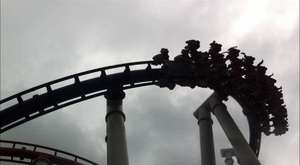 Singapore Battlestar Galactica Dueling Roller Coasters
