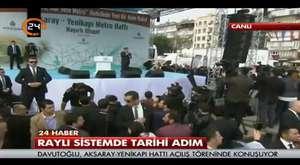 Bursa'da Ahmet Davutoğlu izdihamı