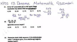 2015 DGS Pegem Deneme 8 Matematik Soru Çözümü