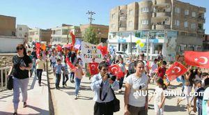 Nusaybin'de Festival yürüyüşü yapıldı