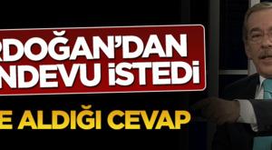 Abdullatif Şener Erdoğan'dan randevu istedi_ İşte aldığı cevap