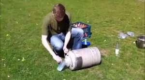 Nitrojen ve su ile roket yapımı