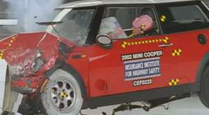 2002 Mini Cooper moderate overlap test