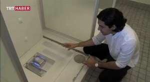 Geri dönüşüm yapan duş kabini