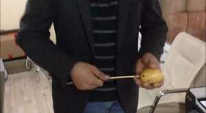 Çubukta patates kızartılışı