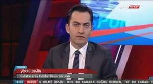 Galatasaray basın sözcüsü Şükrü Ergün Ntvspor canlı yayınına bağlandı.