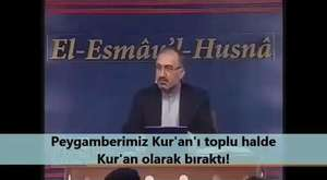 Peygamberimiz Kur'an'ı toplu halde Kur'an olarak bıraktı!!