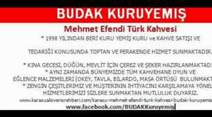 BUDAK KURUYEMİŞ Mehmet Efendi Türk Kahvesi