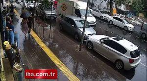 İzmir'de teröristlerin kullandığı araçlar kamerada