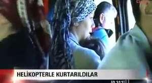 Sinop Ayancık'ta sel - Helikopterle kurtarıldılar