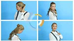 Pratik Ense Saç Topuzu - Kolay Saç Modeli