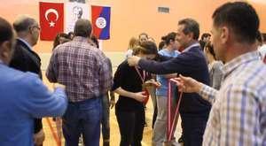 Türk Telekom Yıldız Erkek Takımı Şampiyonluk sevinci.