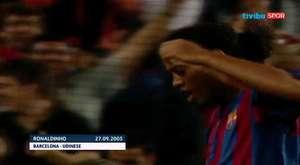 Ronaldinho`nun Şampiyonlar Ligi`ndeki tüm golleri