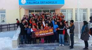 Yalınca Köy Okulu Kitap Yardım Organizasyonu