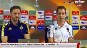 Fenerbahçeli yıldız futbolcu Van Persie ve Teknik direktör Pereira ortak basın toplantısı