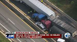 OTOBANDA TIR KAZASI İZLE ! NB US-23 reopens after fatal accident involving semi-trucks, cars in Milan Township WATCH THE VİDEO !