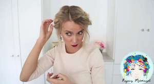 Döngü Çiçek Topuz Modeli - Pratik Saç Modeli