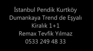 İstanbul Pendik Dumankaya Konsept Kurtköy Kiralık 2+1 Daire.. 1350 TL