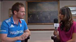 Isa Guha meets England cricket star Eoin Morgan - ICC Global Events Newsletter