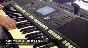 Click here to view our website 29% at 245 of 821 seconds 0:13 / 12:10 Korg PA900 VS Yamaha S950 Keyboard Demo