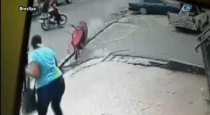 Camı kıramayınca soygundan vazgeçti