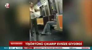 metroda insanları ağlatan olay...