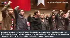 Numan Kurtulmuş, Kayseri de Papa protestosu