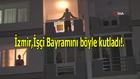 İzmir'de işçi ve emekçilere alkışlı destek