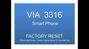 CASPER VİA A3316 FACTORY RESET