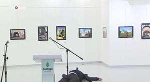 Rus Büyükelçisinin vurulma anı