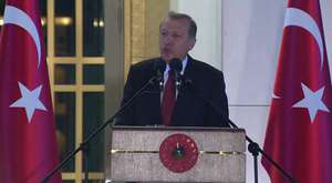 TBMM Başkanı Çiçek Cumhurbaşkanlığı Sarayı'nda