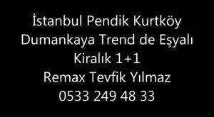 İstanbul Pendik Kurtköy Dumankaya Trend Satılık 1+1 Daire